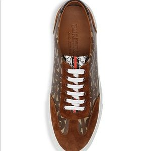 Burberry Nelson Mixed Media Logo Sneakers